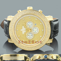 Ice Time Watches: Mens 3 Carat Diamond Watch