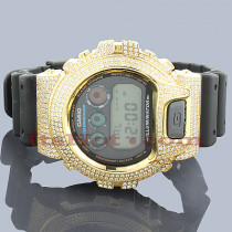ICED OUT G-SHOCK Watch White CZ Crystals Casio DW6900