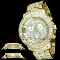 Mens Joe Rodeo Iced Out Watches 21ct JoJo Junior Yellow Gold Plated