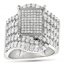Ladies Diamond Engagement Ring 14K 2.69ct