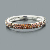 Thin Ladies Red Diamond Ring 0.51ct 14K Stackable