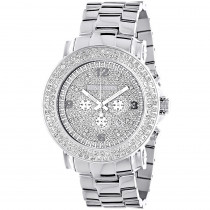 Large 2 Row Diamond Bezel Luxurman Watch 5ct New Arrival Oversized