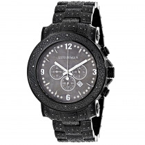 Luxurman Black Diamond Watch for Men 2ct Fully Iced Out Oversized