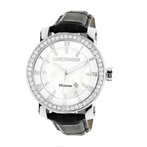 Luxurman Mens VS Diamond Watch 4 ct White MOP