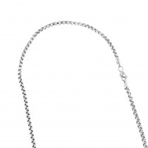 LUXURMAN Solid 14k Gold Box Chain For Men & Women Round 1.7mm Wide