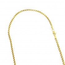 LUXURMAN Solid 14k Gold Box Chain For Men & Women Round 2.8mm Wide
