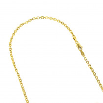 LUXURMAN Solid 14k Gold Cable Chain For Men & Women 4mm Wide