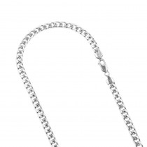 LUXURMAN Solid 14k Gold Cuban Link Chain For Men Miami 5mm Wide