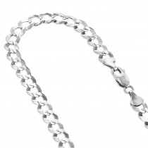LUXURMAN Solid 14k Gold Curb Chain For Men Comfort 4.5mm Wide