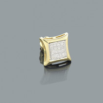 Mens Diamond Earring 0.09ct 10K Gold