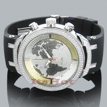 Mens World Map Joe Rodeo Diamond Watch 2.2 Master