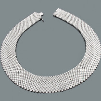 Mesh Collier Diamond Necklace 91.92ct 18K Gold