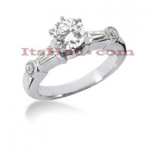 Platinum Diamond Engagement Ring 1.52ct