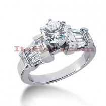 Platinum Diamond Engagement Ring 2.12ct
