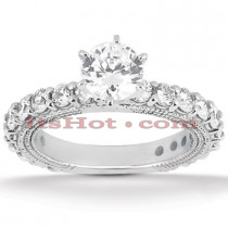 Platinum Diamond Engagement Ring 2.40ct