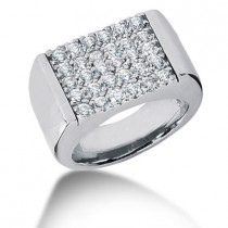 Platinum Men's Diamond Ring 1.50ct