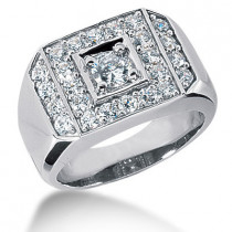 Platinum Men's Diamond Ring 2.19ct