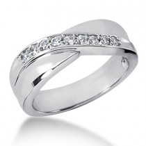 Platinum Men's Diamond Wedding Ring 0.27ct