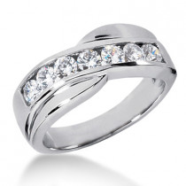 Platinum Men's Diamond Wedding Ring 1.05ct
