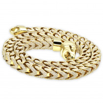 Real Diamond Hip Hop Jewelry Solid 10K Gold Iced Out Franco Chain for Men