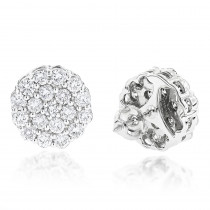 Round Diamond Cluster Earrings in 14K Gold 4.02ct