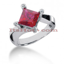 Thin Ruby Engagement Rings: Ladies Diamond Ring 14K 0.06ctd 2.50ctr