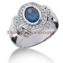 Sapphire Engagement Rings: Ladies Diamond Ring 0.48ctd 1.25cts 14K