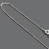 Sterling Silver Box Chain 16 in 1mm