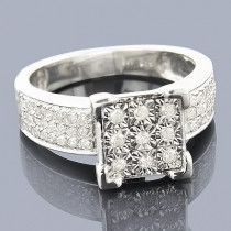 Sterling Silver Diamond Engagement Ring 0.60ct