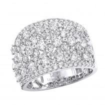 Unique Wide Diamond Ladies Ring Band 2.75ct in 14k Gold by Luxurman