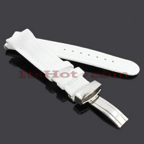 Watch Bands: Joe Rodeo Leather Watch Band 22mm White