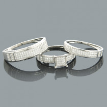 Wedding Ring Sets 14K Diamond Engagement Ring Set 0.53