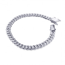 White Gold Miami Cuban Link Colossal Chain Bracelet 14K 14.5mm 7.5-9in