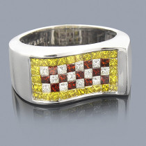White Yellow Red Diamond Ring 2.50ct Limited Edition