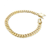 Yellow Gold Miami Cuban Link Colossal Chain Bracelet 14K 14.5mm 7.5-9in