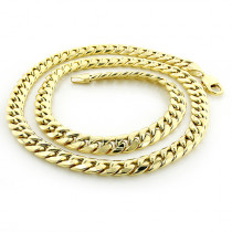 Yellow Gold Miami Cuban Link Curb Chain for Men 10K 22-40in