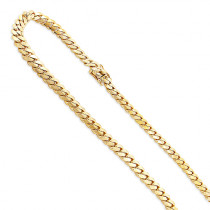 Mens Solid Yellow Gold Miami Cuban Link Curb Chain 14K 3mm 22-40in