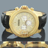 Ice Time Mens Floating Diamond Watch 0.50ct Yellow