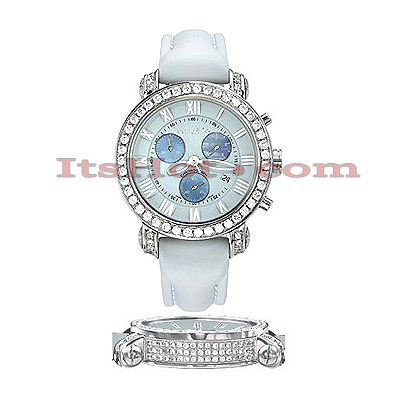 Diamond Benny Co Watch Mens 4ct White