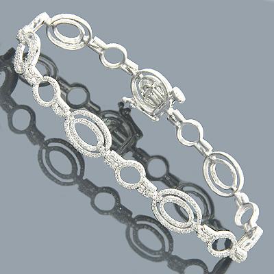 Diamond Bracelets 14K Gold Ladies Diamond Bracelet 2.34