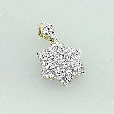 Diamond Star of David Pendant 14K 0.38ct