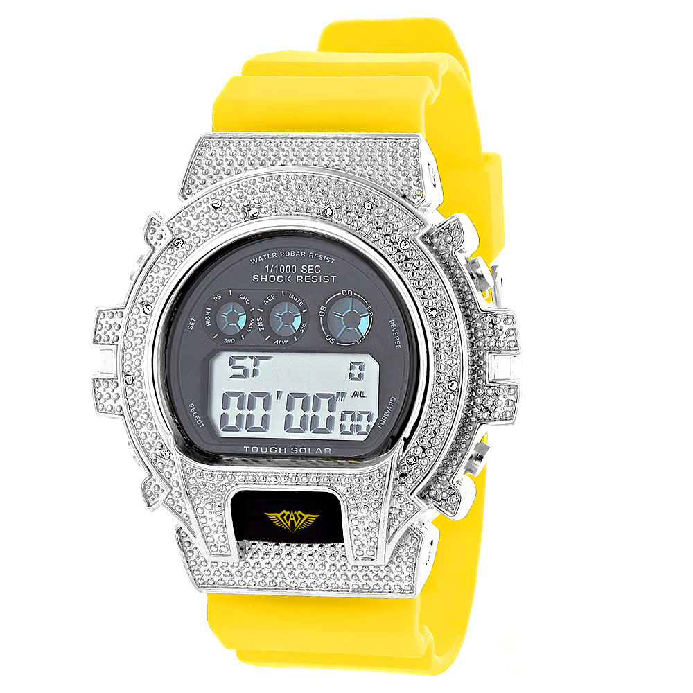 Gshock Style Watches: Ice Plus Diamond Watch 0.12ct