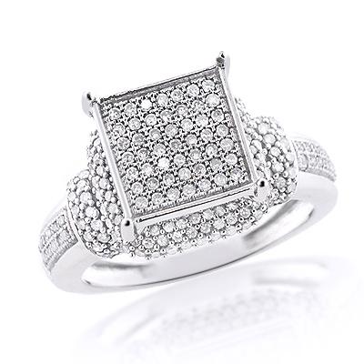 Inexpensive Diamond Engagement Ring 14K 0.65ct