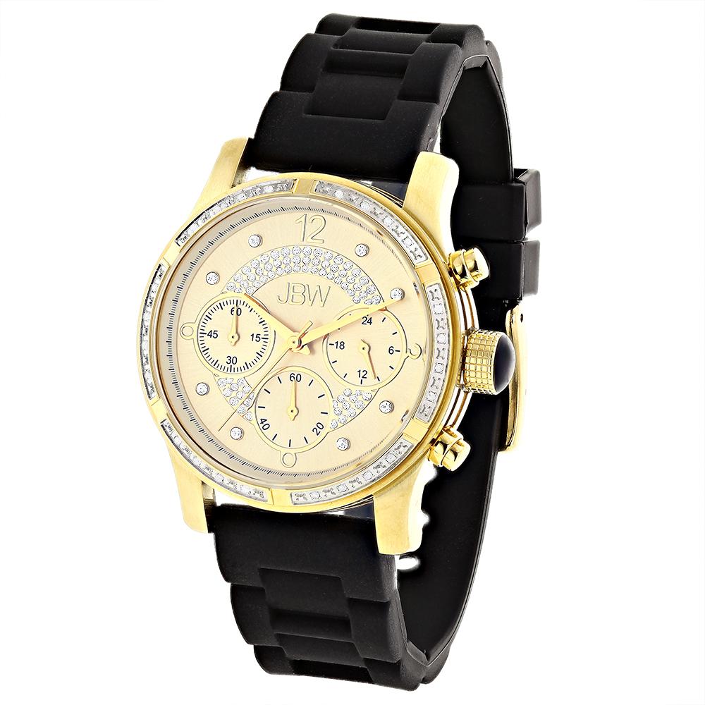 JBW Ladies Diamond Watch Yellow Gold Plated