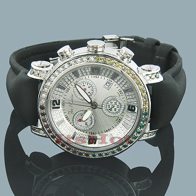 Joe Rodeo JoJo Diamond Watch 3.50ct White Yellow Blue