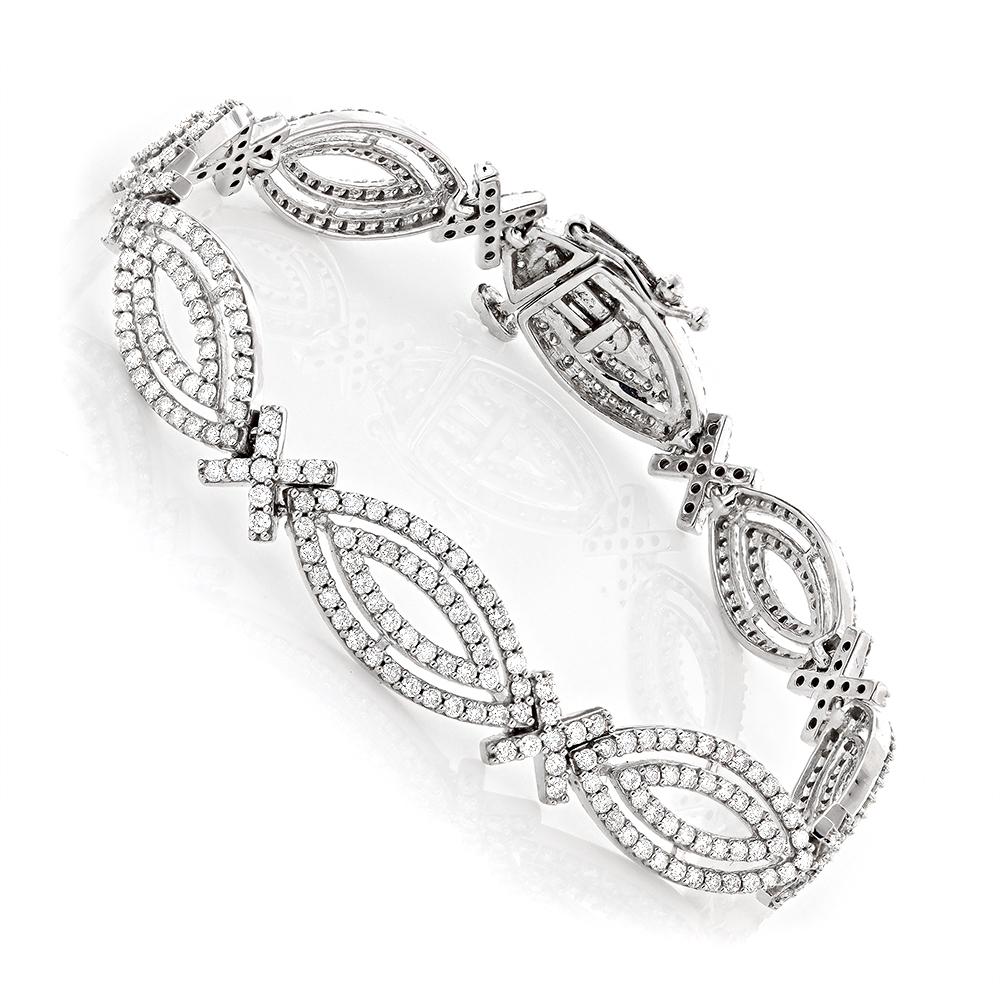 Ladies 14K Gold Designer Diamond Bracelet 4.94ct
