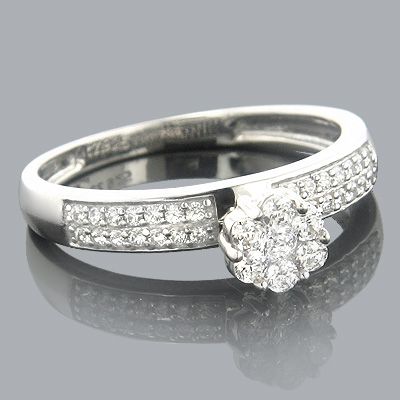 Ladies Diamond Rings 14K Cluster Diamond Ring 0.50ct