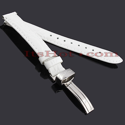 Leather Watch Bands: Joe Rodeo Watch Strap 14mm White
