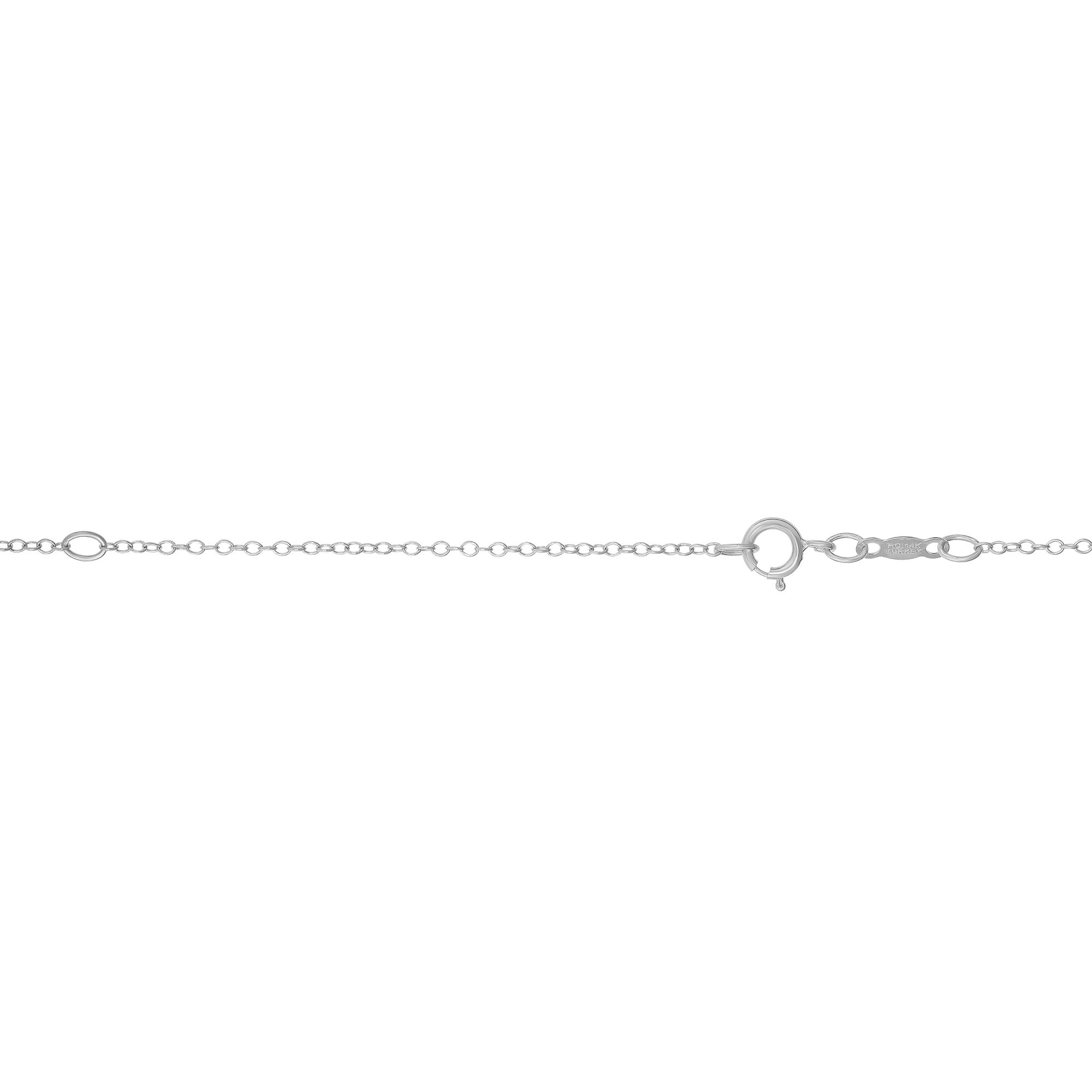 LUXURMAN Solid 14k Gold Cable Chain For Women Round Extendable 1.2mm