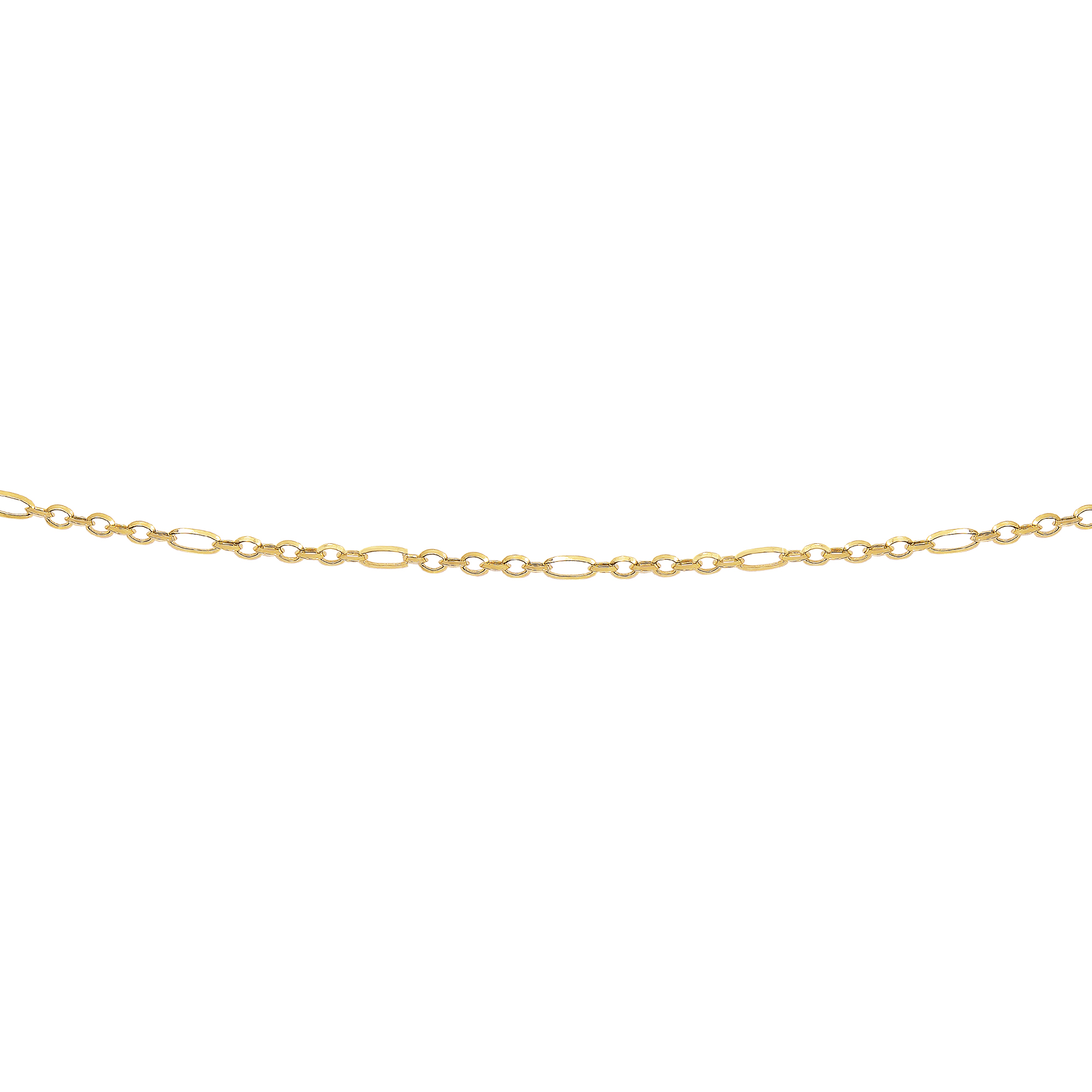 LUXURMAN Solid 14k Gold Rolo Chain For Women Polished Link 2.9mm Wide